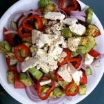 salade avocado feta