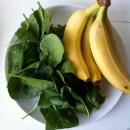 banaan spinazie