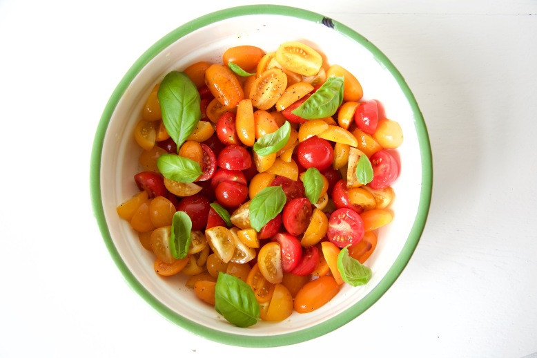 gemengde tomatensalade met balsamico