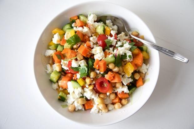 Zoete Aardappel Kikkererwten Salade