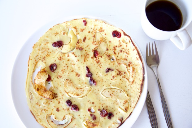 Appel Cranberry Pannenkoek