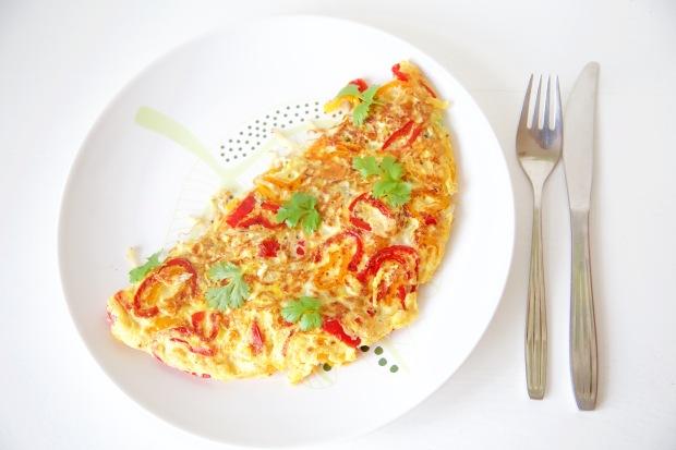 Omelet met verse groente