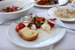 Lunch bij Ionio in Magganos