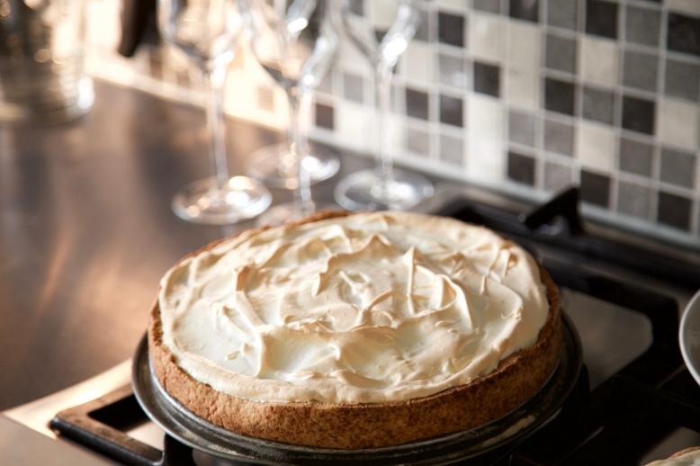 Rabarber meringue taart