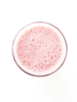 pink protein smoothie