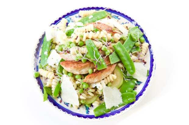 goddelijke groene pasta salade