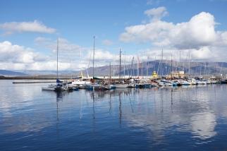 De haven van Reykjavik